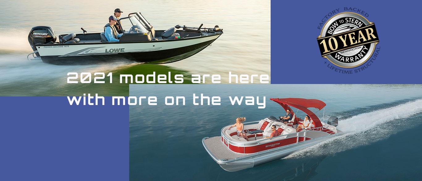 2020 Lowe and Bennington models are at Powerhouse Marine LaCrosse WI